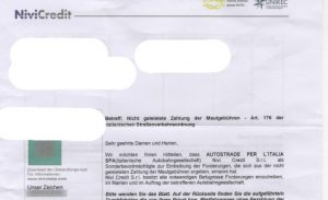 Beispiel Inkasso Brief Ausland